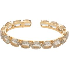 BOUNKIT Green Stone Gold Braclet (65 BHD) ❤ liked on Polyvore featuring jewelry, bracelets, bounkit, green jewelry, gold jewelry, gold jewellery and yellow gold jewelry