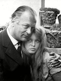Brigitte Bardot and Curd Jurgens, 1956