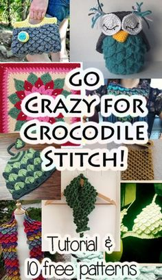 OWL PATTERN @  http://craftnotes.blogspot.ca/2012/07/crocodilestitchcrochetowl.html ~ MAY PURCHASE PATTERNS ~  Crochet Patterns Crocodile Stitch