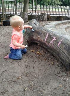 Krijten op hout voor gevorderden (en baby's).