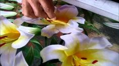 White and Yellow Lilies - 76061 #Handmade #Silk #Embroidery #Art completely handmade by master artists in Suzhou, China. Asian decor for Feng Shui, Gifts & Art Collectors. Please visit our website at www.queensilkart.com.  You can also find King Silk Art's shop on Amazon.com or visit our Etsy shop at: https://www.etsy.com/shop/KingSilkArt