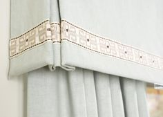 Soft Flowing Drapes with Border www.budgetblinds.com