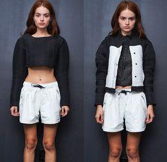 En Noir 2014 Spring Summer Presentation - New York Fashion Week - Rob Garcia High-End Streetwear Midriff Crop Top Lace Dress Zippers Trunks ...