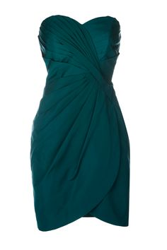 rich turquoise pencil dress with great pleating and sweetheart neckline, $89.00