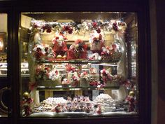 Christmas Pasticceria Window in Italy