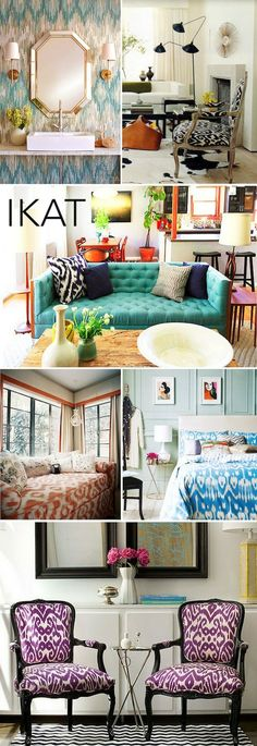 Ikat Love the wallpaper in picture 1!!!