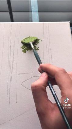 Canvas Painting Tutorials, Diy Canvas Art, Cool Art Drawings, Art Drawings Sketches, Diy Art, Amazing Art, Watercolor Art, Art Projects, Artsy