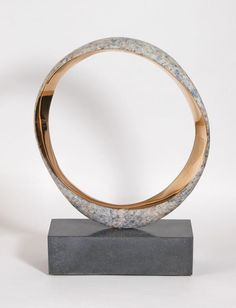 Bronze Round Disk, Dish, Flat Circular Ring Shaped Sculptures / Statues statuette statuary #sculpture by #sculptor Philip Hearsey titled: 'Narration V' #art