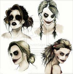 Harley Quinn designs by romanceofcrime