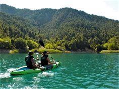 Kayak in lake Tsivlos! Kayaking, Greece, Boat, Nature, Travel, Greece Country, Kayaks, Dinghy, Naturaleza