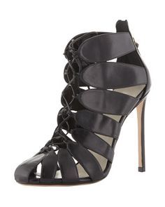 Lace-Up Cutout Ankle Boot by Francesco Russo at Bergdorf Goodman.