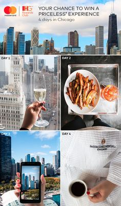 Enjoy an exclusive culinary experience with acclaimed Michelin Star & celebrity chef Graham Elliot, a skyline helicopter tour, and a 4-day Chicago getaway unlike any other. Register & stay at any IHG hotel with your Mastercard for a chance to win a Priceless Experience. US, 21+. Ends 2/15/17. Must have Mastercard as of 11/15 and IHG Rewards Club account req'd. No purch nec for Sweepstakes. Subj. to Rules/Terms.
