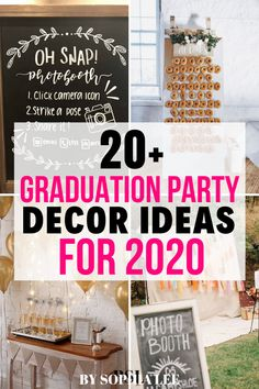 totally sending these high school graduation party decor ideas to my mom! We are starting to plan my grad party sunday and are looking at all the trendy 2020 graduation party ideas we can find! Vintage Graduation Party, Outdoor Graduation Parties, Graduation Party Themes, High School Graduation Gifts, Grad Parties, Graduation Ideas, Grad Party Decorations, Graduation Party Centerpieces, Diy 2019