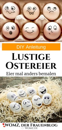 Schnelles Ostereier DIY: Eier bemalen statt färben If you fancy something different for Easter, you will find it here. Funny Eggs, Holiday Break, The Conjuring, Easter Baskets, Diy Painting, Happy Easter, Gifts For Friends, Diy Gifts, Easter Eggs