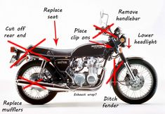 Looking to build a low budget cafe racer? Check out this handy guide for buildin… Looking to build a low budget cafe racer? Check out this handy guide for building your own cafe racer on a tight budget. Tips & Tricks covered! Cb400 Cafe Racer, Suzuki Cafe Racer, Gs 500 Cafe Racer, Cb750 Cafe, Cafe Racer Parts, Custom Cafe Racer, Honda Civic Sedan, Honda Civic 2005, Honda 125
