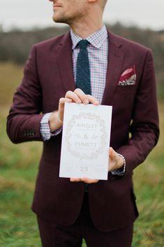 wedding paper goods - photo by Melissa Oholendt http://ruffledblog.com/minnesota-hilltop-elopement-inspiration