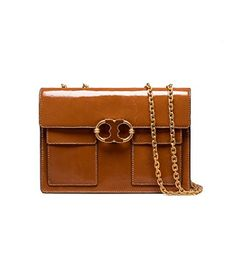 7bd5bbdda6f Visit Tory Burch to shop for Gemini Link Patent Medium Chain Shoulder Bag  and more Womens View All. Find designer shoes