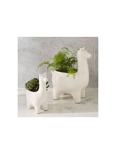 Buy west elm Large Ceramic Llama Planter from our Pots & Planters range at John Lewis & Partners. Large Garden Planters, Planter Pots, West Elm, Earthenware, Greenery, Cactus, Succulents, Ceramics, Shapes