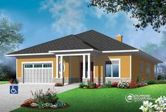 Barrier-free house plan
