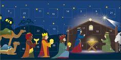 Weihnachtskarten 2016 für Firmen - Adventkarten - Artikel 41510 - Weihnachtskrippe