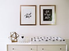 Favorite Things: Reese's Room * Black and White and Pink Little Girl's Nursery * Mid Century Modern Nursery * West Elm * Modern Baby Nursery Gold Nursery, Chic Nursery, Nursery Modern, Nursery Room, Baby Room, Bedroom, Black White Nursery, Black And White Baby, White Gold
