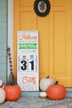 DIY Halloween Countdown Board with FREE printable numbers!