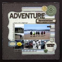 travel scrapbook layout-check it out they made the layout using a picture collage....awesome