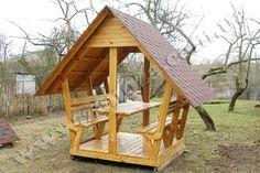 Деревянная беседка для загородного дома - zaNOza - пиломатериалы, заборы деревянные, щиты строительные, вагонка деревянная, имитация бруса, доска пола, блокхаус, дрова, террасные ограждения, мебель деревянная, подоконники, ступени, туалеты, цена, киев