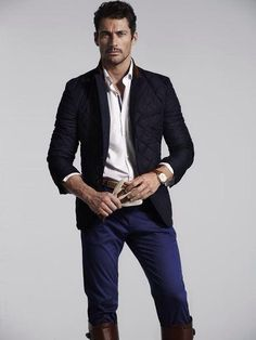 David Gandy for Massimo Dutti: The Equestrian Collection S/S 2014. Hunter & Gatti (Photographer). Paco Garrigues (Hair Stylist). Jordi Fontanals (Makeup Artist).