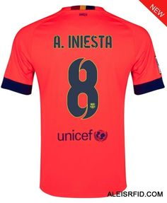 A.Iniesta Shirt #8 Orange Away Barcelona 2014/15-http://www.aleisrfid.com/barcelona-shirt-enjoy 10% off by shop over £100.Discount Code:cutoff10%.