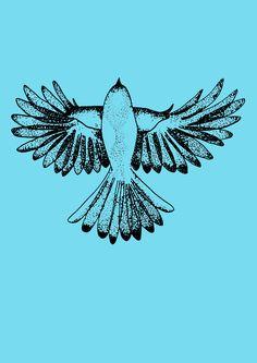 Plakat fugl. LS illustrationer