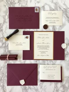 Burgundy Wedding Invitations are elegant and classic! This unique invitation is paired with a custom wax seal! Burgundy Wedding Invitations, Glitter Invitations, Unique Invitations, Beach Wedding Invitations, Wedding Invitation Wording, Wedding Stationery, Anniversary Invitations, Invitation Cards, Wedding Ceremony Ideas