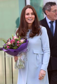 Catherine, Duchess of Cambridge leaves the new Kensington Leisure Centre on January 19, 2015 in London, England.