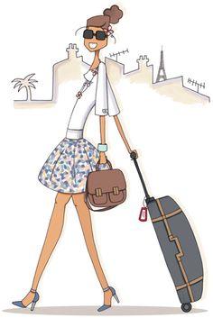 Mad'moiselle C. on Behance Travel Illustration, Illustration Girl, China Art, Creative Pictures, Fashion Art, Fashion Design, Jolie Photo, Bastille, Tour Eiffel