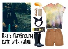"""Rainy Playground Date With Calum"" by emclifford ❤ liked on Polyvore featuring River Island, Wildfox, Michael Kors, Boohoo, Sun Bum, Hunter, casualoutfit and calumhood"