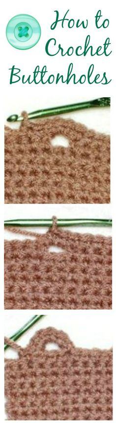 How to Crochet Buttonholes | Petals to PicotsPetals to Picots