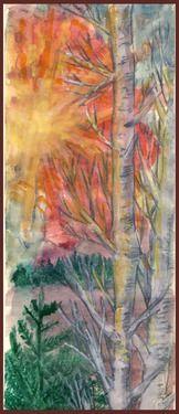 "Saatchi Online Artist Mirela Ch; Painting, ""Sunset"" #art"