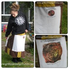 Widespread Panic Summer Tour 2001 Patchy Skirt by gr8fuldreadgrrl, $55.00