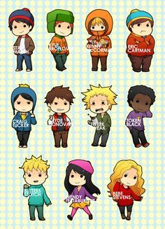 CHIBIS: South Park by shiftly on deviantART