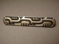 Vintage German Art Deco Silver Brooch Pin 935 by TheLovelyJumble