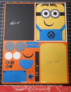 Minions are so HOT right now, so when I started seeing some with punch art, I had to try my hand at one too. I have to say, this little guy. Boy Cards, Kids Cards, Cute Cards, Paper Punch Art, Punch Art Cards, Minion Card, Kids Punch, Craft Punches, Kids Birthday Cards