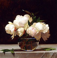 """❀ Blooming Brushwork ❀ - garden and still life flower paintings - Jacob Collins """"Peonies"""""""