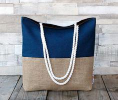 Bolsos de playa - Bolso de playa - Azul - Maxibolso de verano - hecho a mano por LoLahn-Handmade en DaWanda
