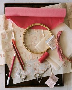 Tools for Embroidery - How-To: Embroidery - Step 3 - MarthaStewart.com