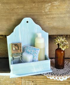 Rustic Hanging Wall Box Wall Pocket Small by OldSoulWoodworks, $16.00