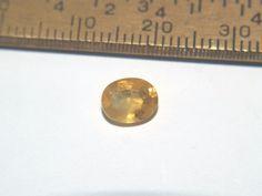 Yellow Sapphire Facet Madagascar 12x6x4mm 1.38 Carats