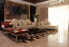 RUSTIC - Decorated with a mix of styles, from vintage to contemporary, which created, as a result, a beautiful space filled with a variety of diff. Indian Living Rooms, Sofa, Couch, Drawing Room, Beautiful Space, Living Room Interior, Rustic, Contemporary, Interior Design