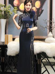Oriental Dress, Oriental Fashion, Asian Fashion, Cheongsam Dress, Evening Dresses, Formal Dresses, Ao Dai, Traditional Dresses, Costume Design