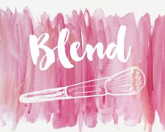 Pink Vanity Decor, Makeup Brush Illustration, Watercolour Canvas Print