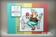 Sipping Shirley. Sold separately are the words or this also comes in a set.  Made by Art Impressions and you can purchase these from my ebay store Pat's Rubber Stamps & Scrapbooks, Click on the picture here to see the listing , or call me 423-357-4334 with order, or come by 1327 Glenmar Ave. Mt Carmel, TN 37645, Pat's Rubber Stamps & Scrapbook supplies 423-357-4334. We take PayPal. You get free shipping with the phone orders of $30.00 or more. Use my search engine to find all items you are…